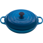 Le Creuset Signature Marseille Blue Enameled Cast Iron Braiser, 5 Quart