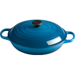 Le Creuset Signature Marseille Blue Enameled Cast Iron Braiser, 3.5 Quart