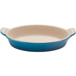 Le Creuset Heritage Marseille Blue Stoneware Au Gratin Dish, 24 Ounce