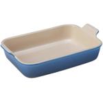 Le Creuset Heritage Marseille Blue Stoneware Rectangular Dish, 4 Quart