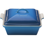 Le Creuset Heritage Marseille Blue Stoneware Covered Square Casserole Dish, 2.5 Quart