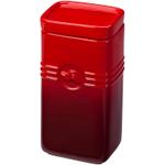 Le Creuset Cherry Stoneware Coffee Storage Jar, 2 Quart