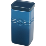 Le Creuset Marseille Blue Stoneware Coffee Storage Jar, 2 Quart