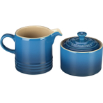 Le Creuset Marseille Blue Stoneware Cream and Sugar Set