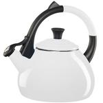 Le Creuset White Enameled Steel 1.9 Quart Oolong Tea Kettle