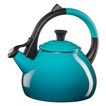 Le Creuset Caribbean Enamel on Steel 1.6 Quart Oolong Tea Kettle