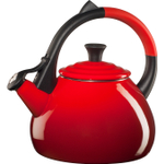 Le Creuset Cherry Enamel on Steel 1.6 Quart Oolong Tea Kettle