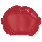 Red Melamine Crab Serving Platter