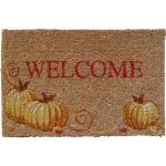 Entryways Welcome Pumpkins Holiday Theme Hand Woven Coir Doormat
