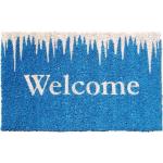 Icy Welcome Hand Woven Coir Non-Slip Doormat, 17 x 28 Inch