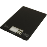 Escali Arti Ink Black Glass Digital Kitchen Scale, 15 Pound