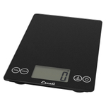 Escali Arti Ink Black Glass Digital Kitchen Scale, 15 Pound