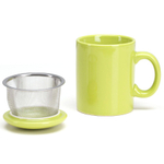Omniware Citron Ceramic Infuser Tea Mug with Lid