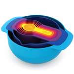 Joseph Joseph Nest Plus 7 Piece Compact Multicolored Food Preparation Set