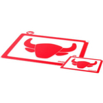 Mastrad Red Silicone Cutting Board, Set of 2