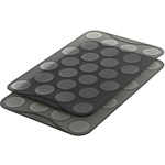 Mastrad Charcoal Silicone Macaron Baking Sheet, Set of 2