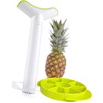 Tomorrow's Kitchen White Medium Pineapple Slicer with Wedger