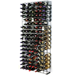 Wine Enthusiast Black Tie Grid Wine Rack, 144 Bottle Capacity