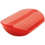 Lekue Red Silicone Steam Case with Draining Tray, 47 Ounce