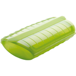 Lekue Green Silicone Steam Case with Draining Tray, 47 Ounce