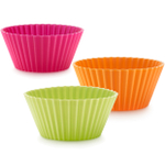 Lekue Multi- Colored Silicone Muffin Cup, Set of 12