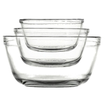 Anchor Hocking 3 Piece Nesting Glass Mixing Bowl Set