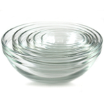Anchor Hocking 6 Piece Nesting Glass Prep Bowl Set