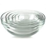 Anchor Hocking 6 Piece Nesting Glass Prep Bowl Set