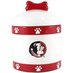 Florida State University Seminoles Ceramic Dog Treat Jar