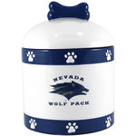 University of Nevada Wolf Pack Ceramic Dog Treat Jar
