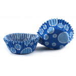 Cupcake Creations Blue Dots Mini Baking Cup, Set of 60