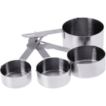 Progressive International Heavy Duty Stainless Steel 4 Piece Measuring Cup Set