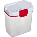 Progressive International Powdered Sugar Keeper with Built in Leveler White and Red