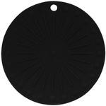 Lamson & Goodnow HotSpot Round Black Silicone Trivet, 8 Inch