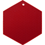 Lamson & Goodnow HotSpot Red Silicone Honeycomb Hexagon Trivet