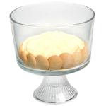 Anchor Hocking Monaco Glass Trifle Bowl, 3 Quart