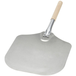 Kitchen Supply Aluminum Pizza Peel with Wooden Handle, 14 Inch