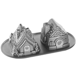 Nordic Ware Platinum Bakeware Gingerbread House Dual Shapes Cake Pan