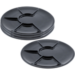 Swissmar Round Black Porcelain Raclette and Fondue Plate, Set of 4