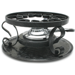Swissmar Black Wrought Iron Rechaud with Fondue Burner