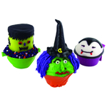Fox Run Lil' Monstas Lil' Witch Silicone Bake Cup, Set of 4