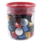 Click Clack Clear Pantry Canister with Red Lid, 1.6 Quart