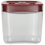 Click Clack Cube Food Storage Container with Red Lid, 1.5 Quart