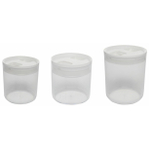 Click Clack 3 Piece Pantry Canister Set with White Lids