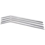 Onyx 18/8 Stainless Steel 4 Piece Small Straw Set