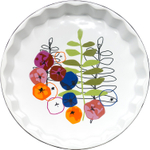 Sagaform Season Stoneware Pie Plate, 9.5 Inch