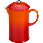 Le Creuset Flame Stoneware 27 Ounce French Press Coffee Maker