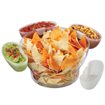 Prodyne Orbit Clear Serving Bowl-On-Ice with 4 Clip-On Side Servers