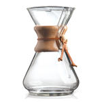 Chemex 10 Cup Classic Glass Coffee Maker with Wood Collar and Tie, 50 Ounce