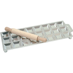 Risoli Aluminum Giant Square Ravioli Maker with Rolling Pin
